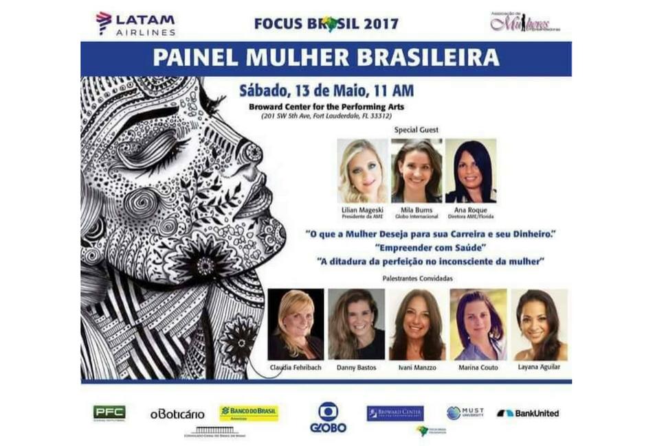Evento 05-13-17  Focus Brasil 2017- Painel AME-Mulher Brasileira