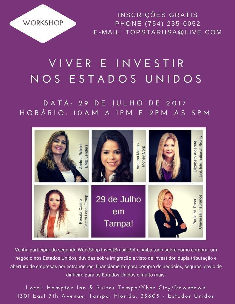Workshop: Viver e Investir nos Estados Unidos (Tampa)